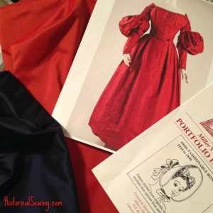 Progress on the *Orange* 1838 Persimmon Puff Dress