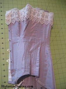 Finished Purple Edwardian Corset