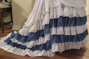 Finished Skirt Ruffles