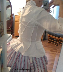Fitting a Victorian Bodice on Yourself