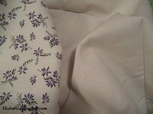 Bodice cotton floral & linen underlining