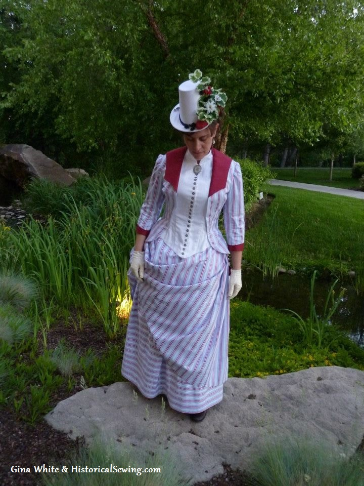 1887 Summer Berry Trifle Dress | HistoricalSewing.com