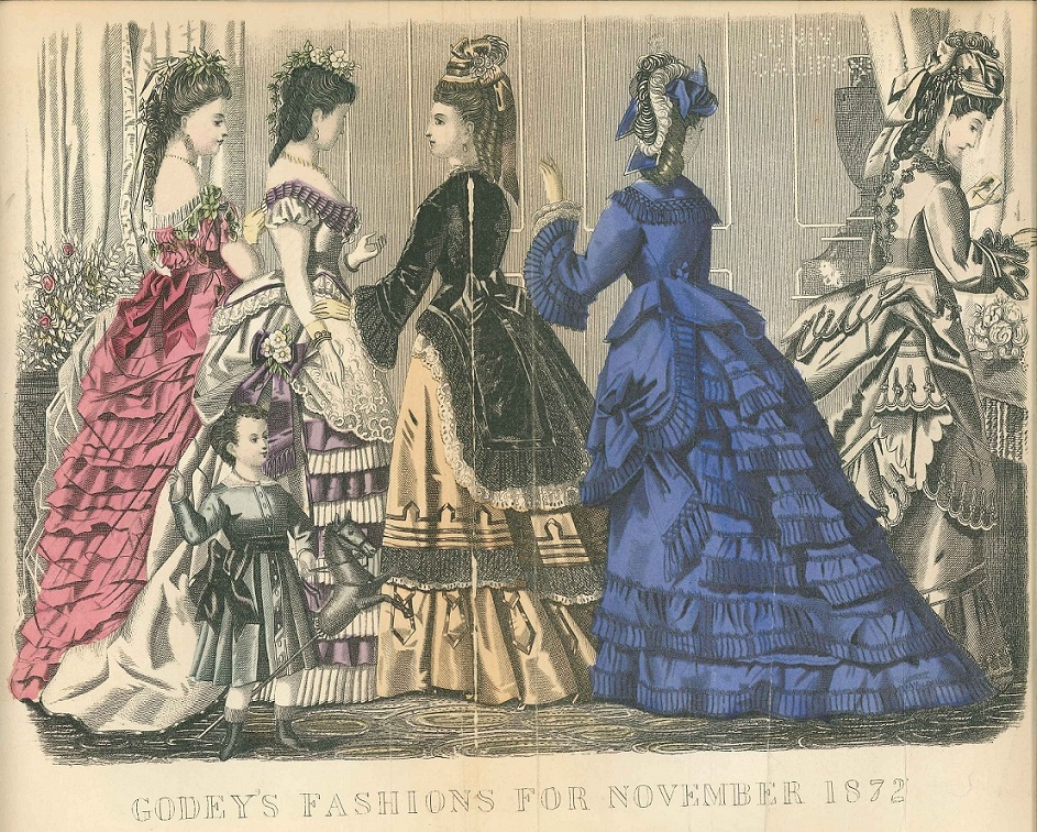 How Do You Know It's a 1870s Bustle Dress?