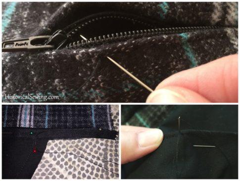 Chore Skirt - Hand sewing the zipper