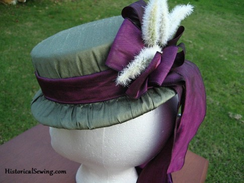 Decorated 1871 hat back view
