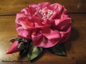 A Christmas Ribbon Rose