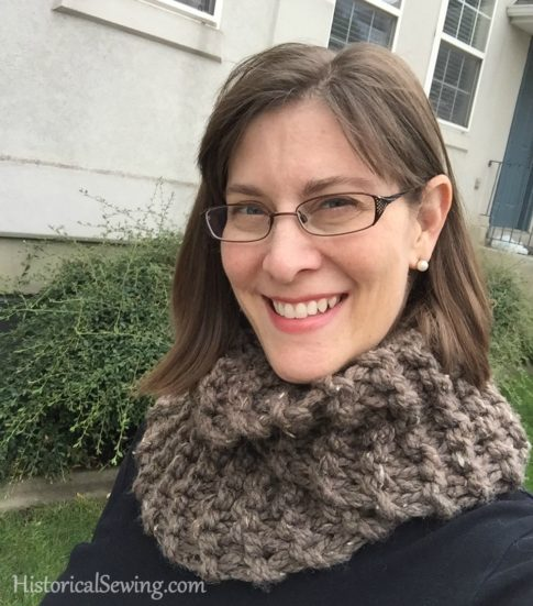 """Sassenach Cowl"" by Kristen Brooks knit from the book Highland Knits"