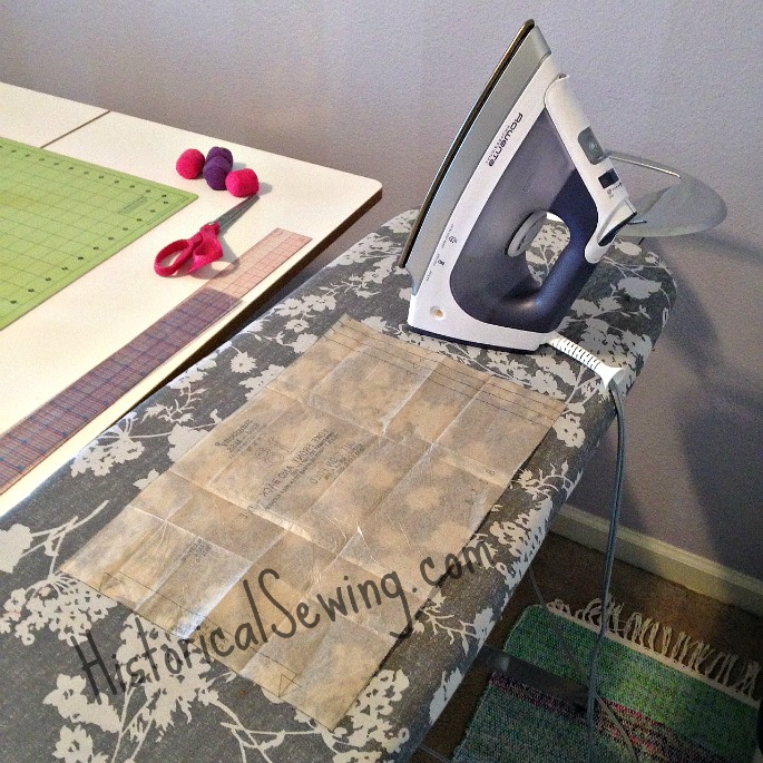 Ironing tissue patterns - 5 tips | HistoricalSewing.com