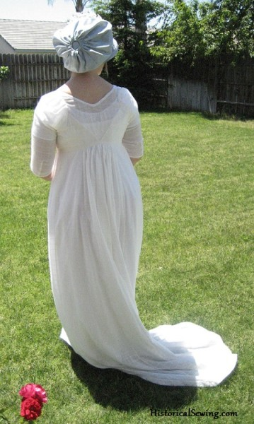 Jen 1800 White Regency back view