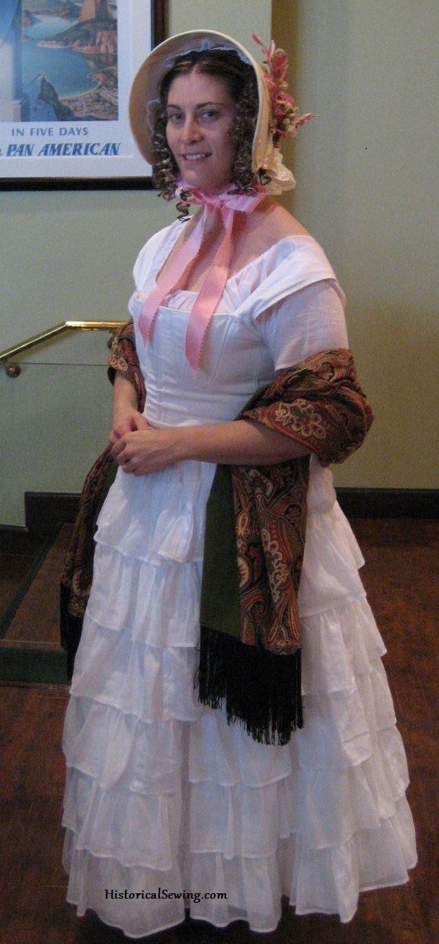 Jen in 1840s undergarments