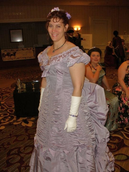 Jen's 1873 Blackberry Cream Dress