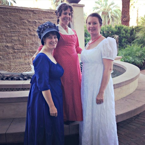 Jennifer, Adriana & Morgan in their Regency dresses