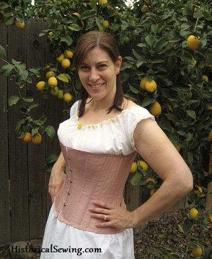 Jen's New 1880s Strawberry Cream Corset