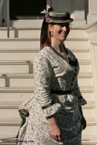 Jen in 1871 Dress & Hat | HistoricalSewing.com