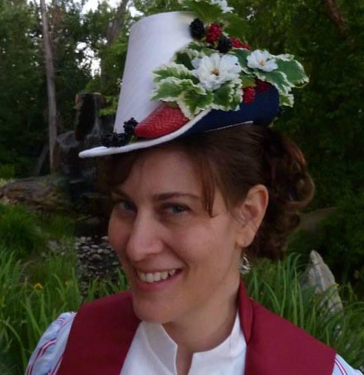 Jen in 1887 Berry Hat