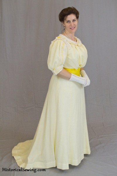 1905 Lemon Chiffon Dress