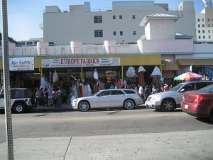 Shops in the Downtown LA Fabric District