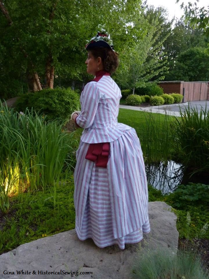 Large bustle from the TV163 lobster tail for a 1887 reproduction