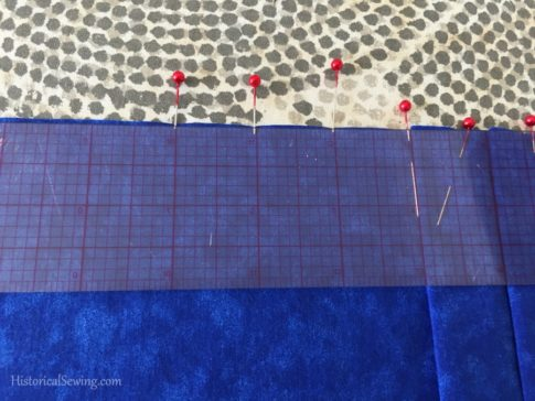 Marking pleat width | HistoricalSewing.com