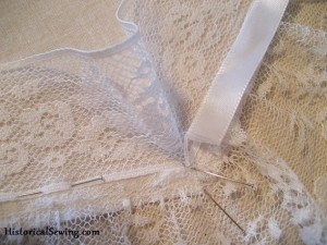 Mitering the Flat Lace