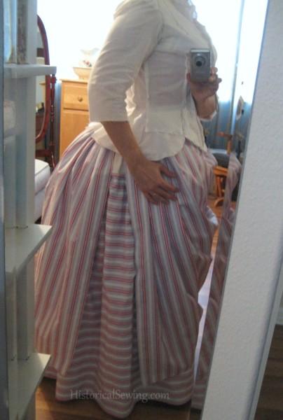 Mockup over skirt