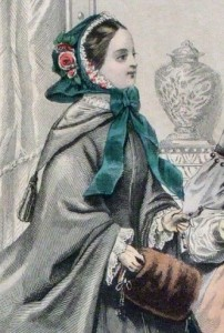 1858 Godey's Lady with Muff