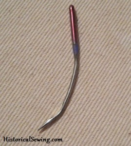 Machine needle that hit a metal bone but did not break