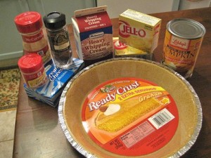 No Bake Pumpkin Pie Ingredients
