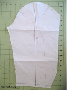 Patterning Out Sleeve Cap Width with Full Length Dart