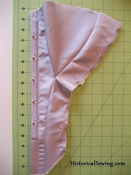 Piecing Edwardian corset panels