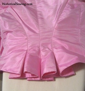 Back Pleats on a 1886 Bodice