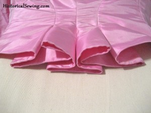 1886 Pink Bodice Pleat Folds
