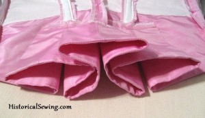 Closer look at Bodice Pleat Folds