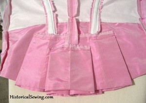 Pink Bodice Pleats inside view