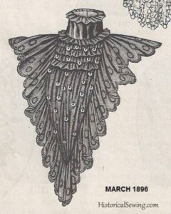 Black Chiffon Plastron as seen in The Delineator, March 1896
