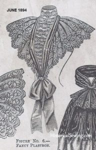 Fancy Plastron, June 1894, The Delineator