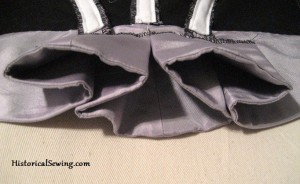 Closer Look at the Purple Bodice Pleat Folds