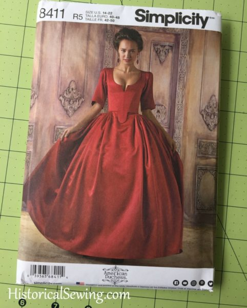 A Controversial Red Dress - Simplicity 8411