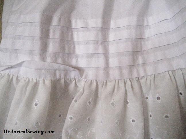 Repro Petticoat Tucks