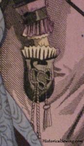 Reticule Pocket seen in 1875 Godey's