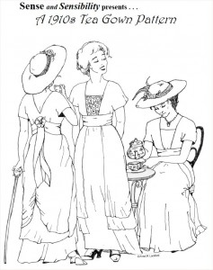 S&S 1910 Tea Gown Pattern