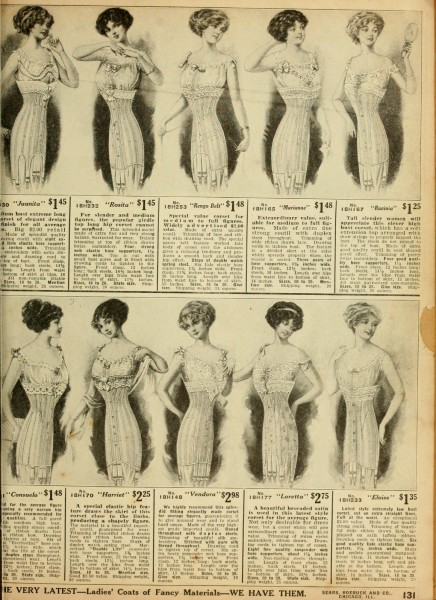 Sears 1912 corsets ad, Catalog no. 124