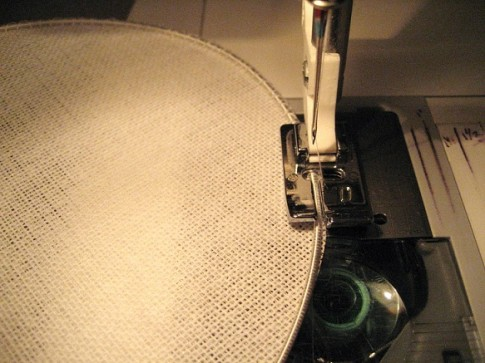 Sewing wire on the tip