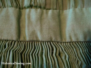 Cartridge Pleats in Sheer Fabric
