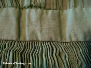 Cartridge Pleats in Sheer Fabric