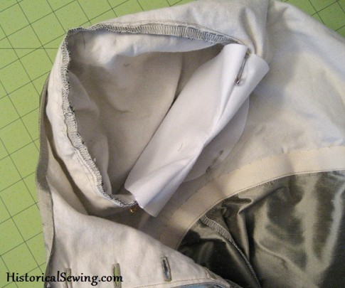 Shield Pinned Over Armhole seam