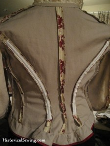 Bodice Side Back Boning