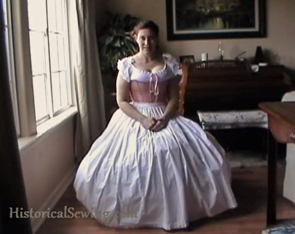 How to Sit in a Hoopskirt | HistoricalSewing.com