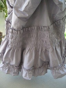 Skirt Back Ruched Ruffle