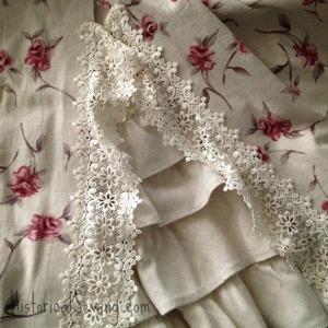 Polonaise over skirt front